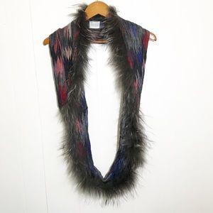 Dana Stein Raccoon Fur Infinity Scarf